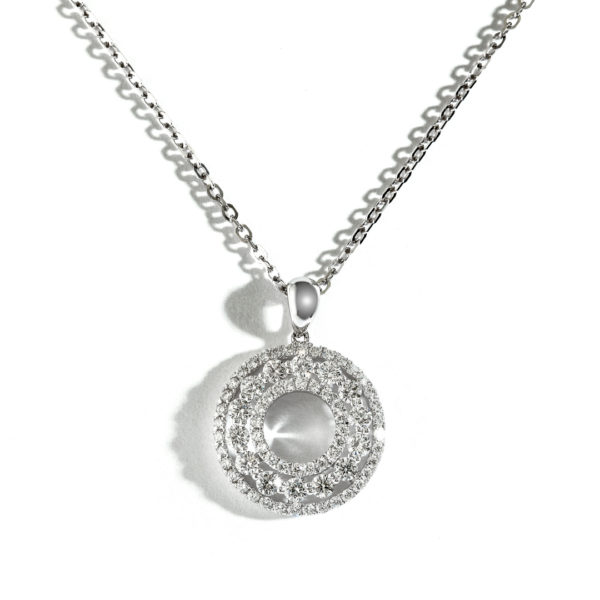 Triple Halo Diamond Pendant DPCT00797-CHW1600062