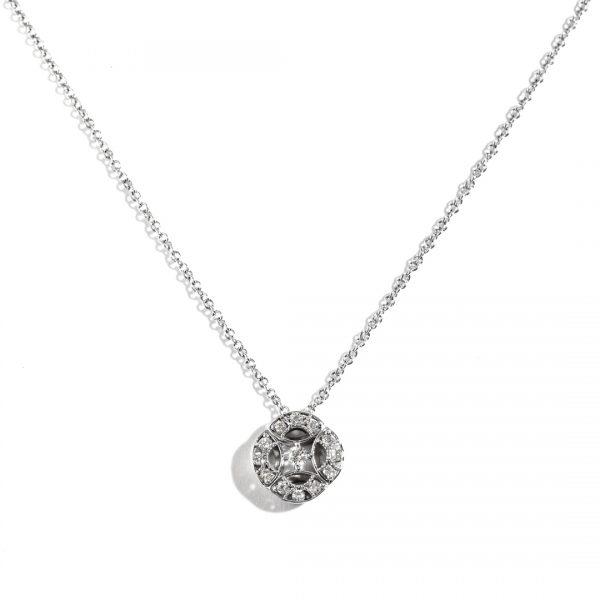 4-Point Star Halo Diamond Pendant