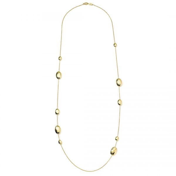 18k Classico Oval Station Necklace GN277B