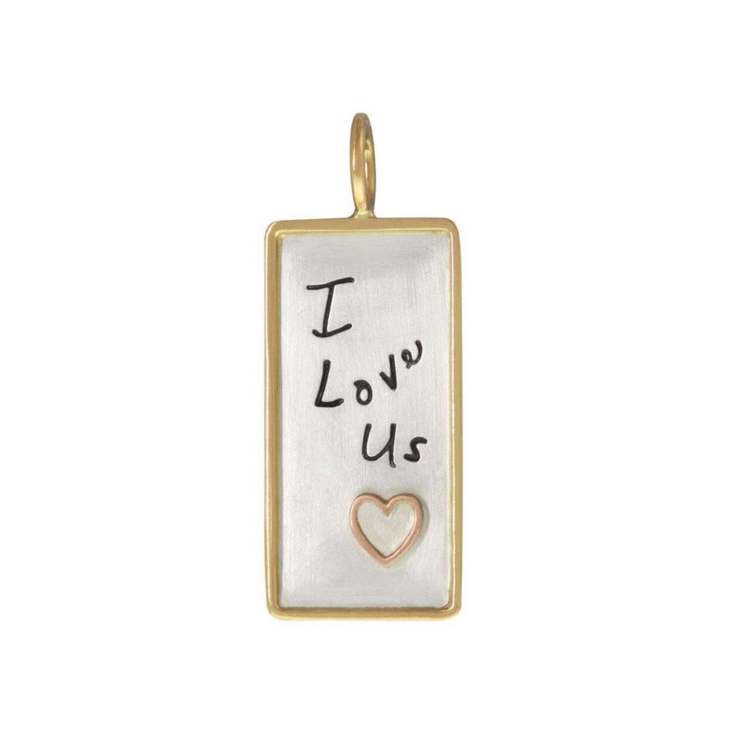 I Love Us ID Tag Charm