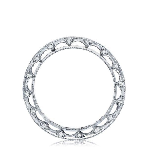 Reverse Crescent Diamond Wedding Band