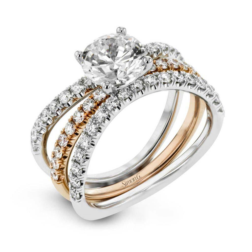 Classic Romance LR1083 Diamond Solitaire Wedding Set LR1083