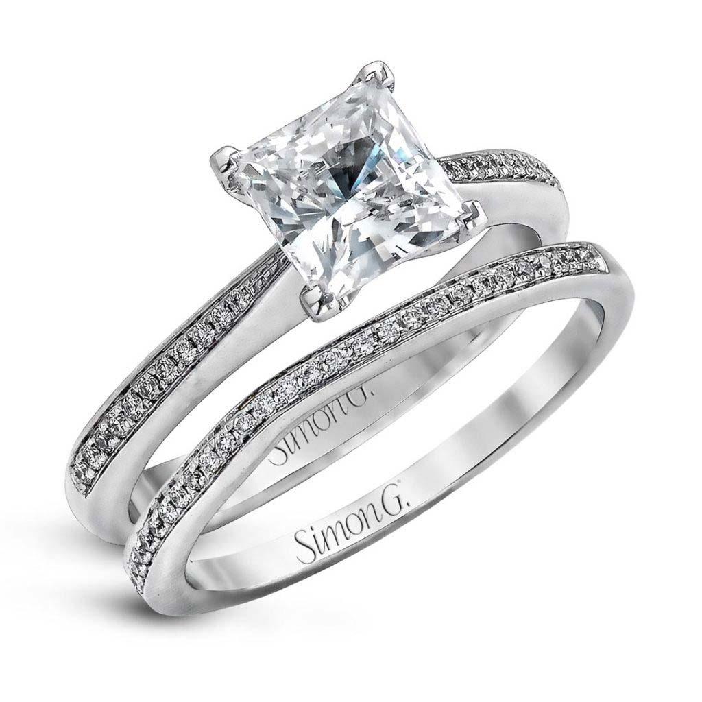 Modern Enchantment MR1507 Diamond Solitaire Wedding Set MR1507