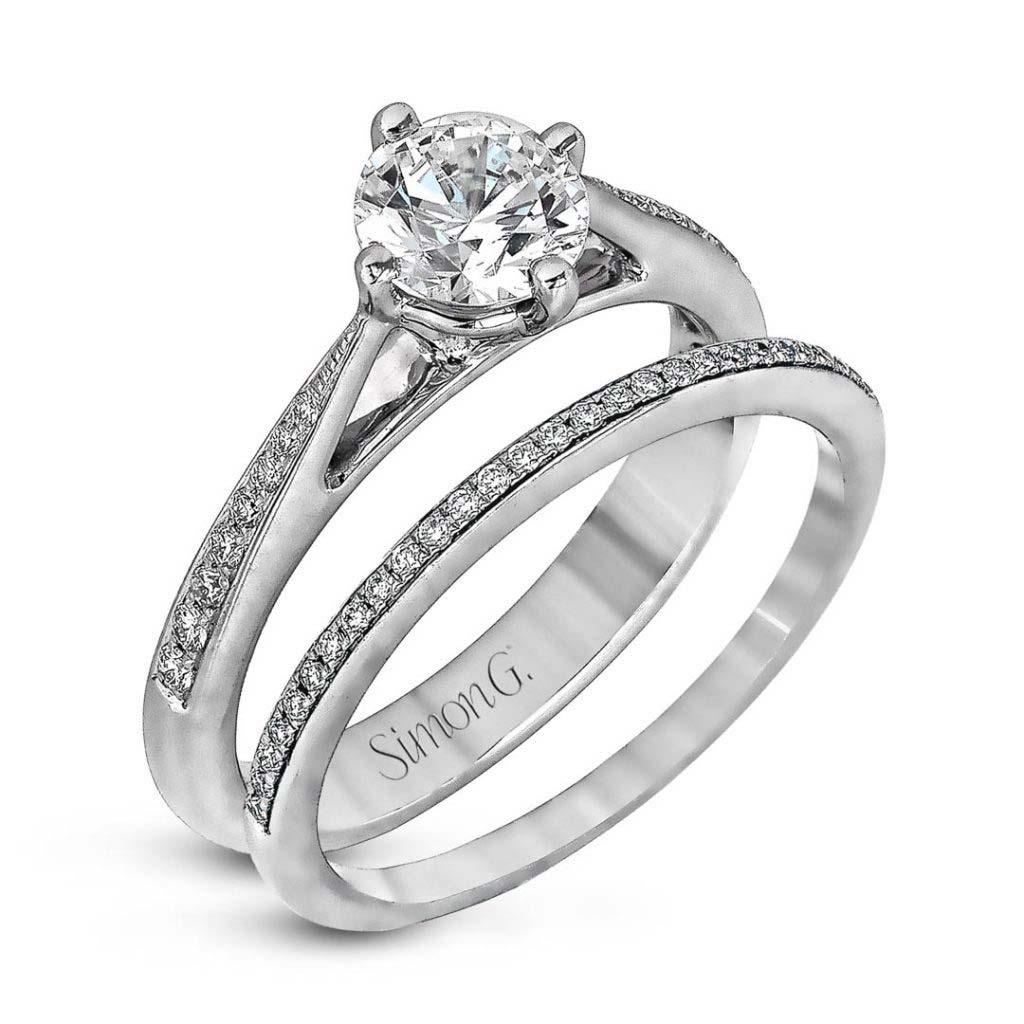Modern Enchantment MR1511 Diamond Solitaire Wedding Set MR1511