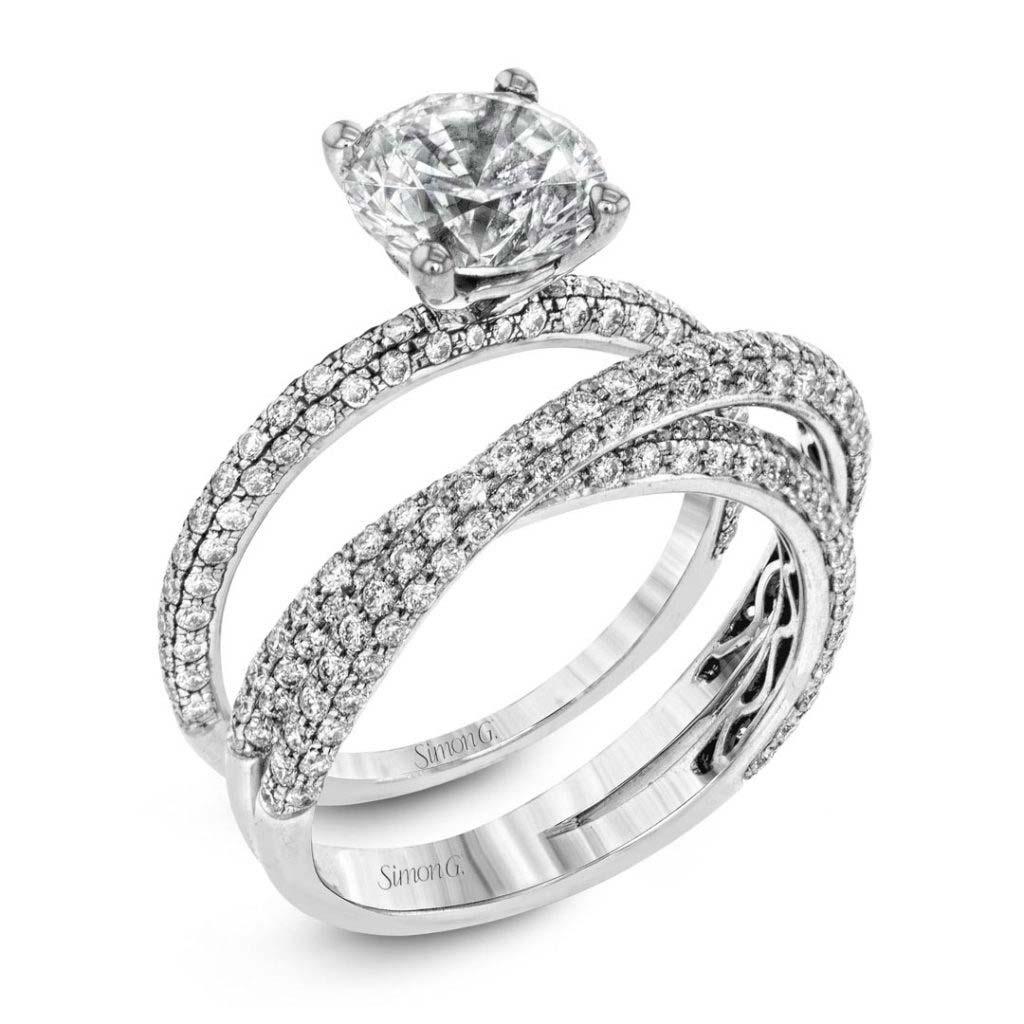 Classic Romance MR1577 Diamond Solitaire Wedding Set MR1577