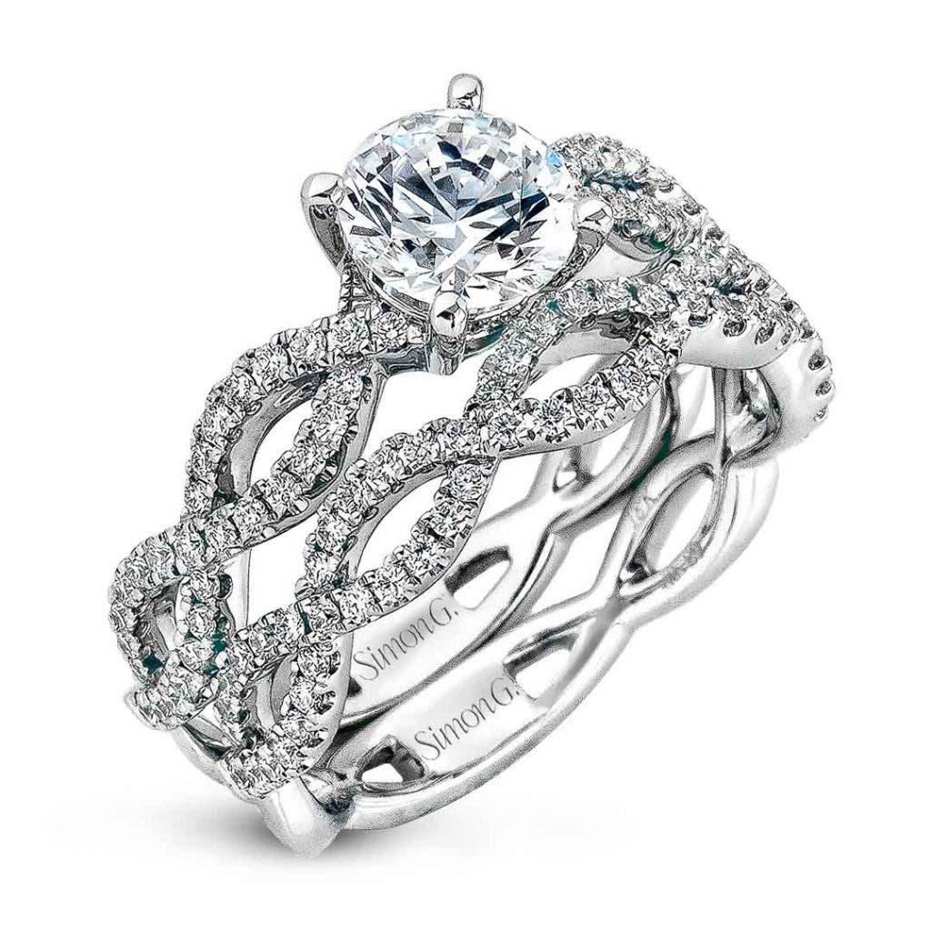Classic Romance MR1596 Diamond Solitaire Wedding Set MR1596