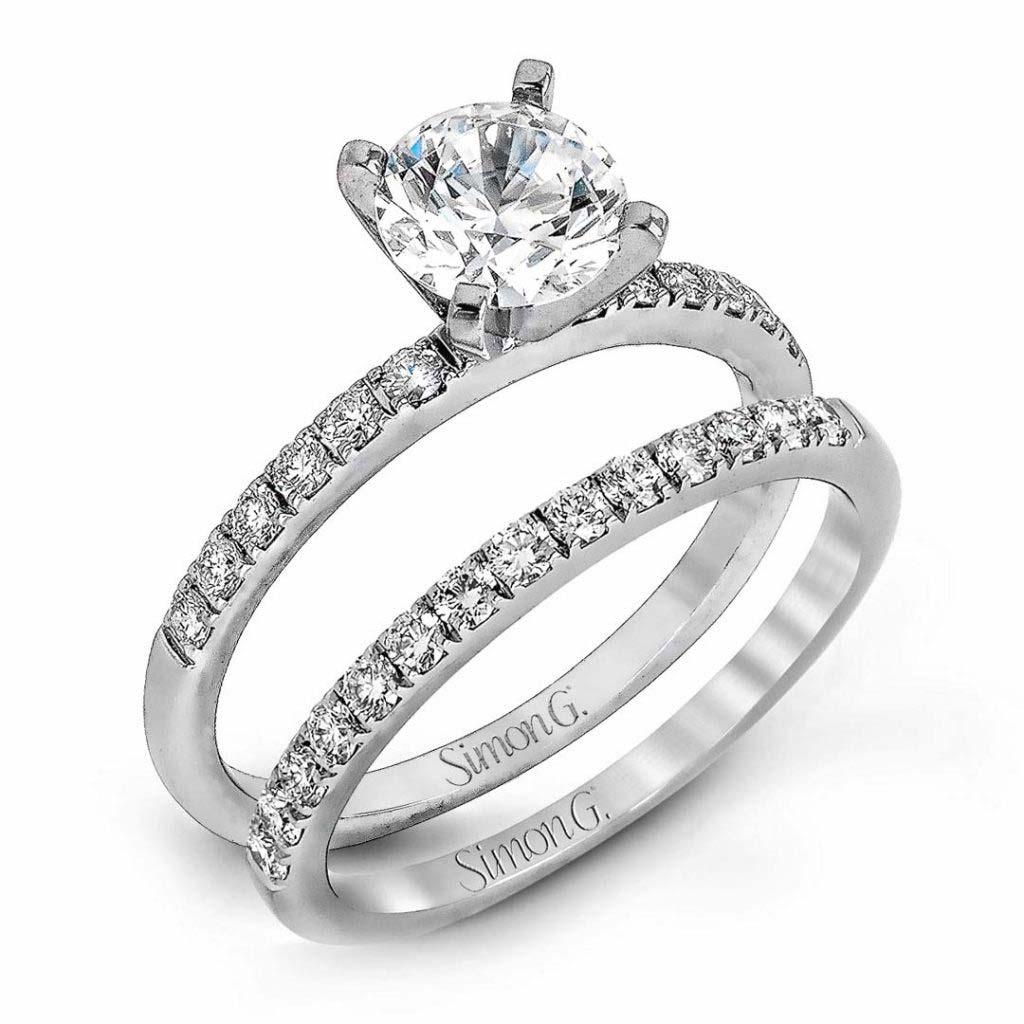 Modern Enchantment MR1686 Diamond Solitaire Wedding Set MR1686