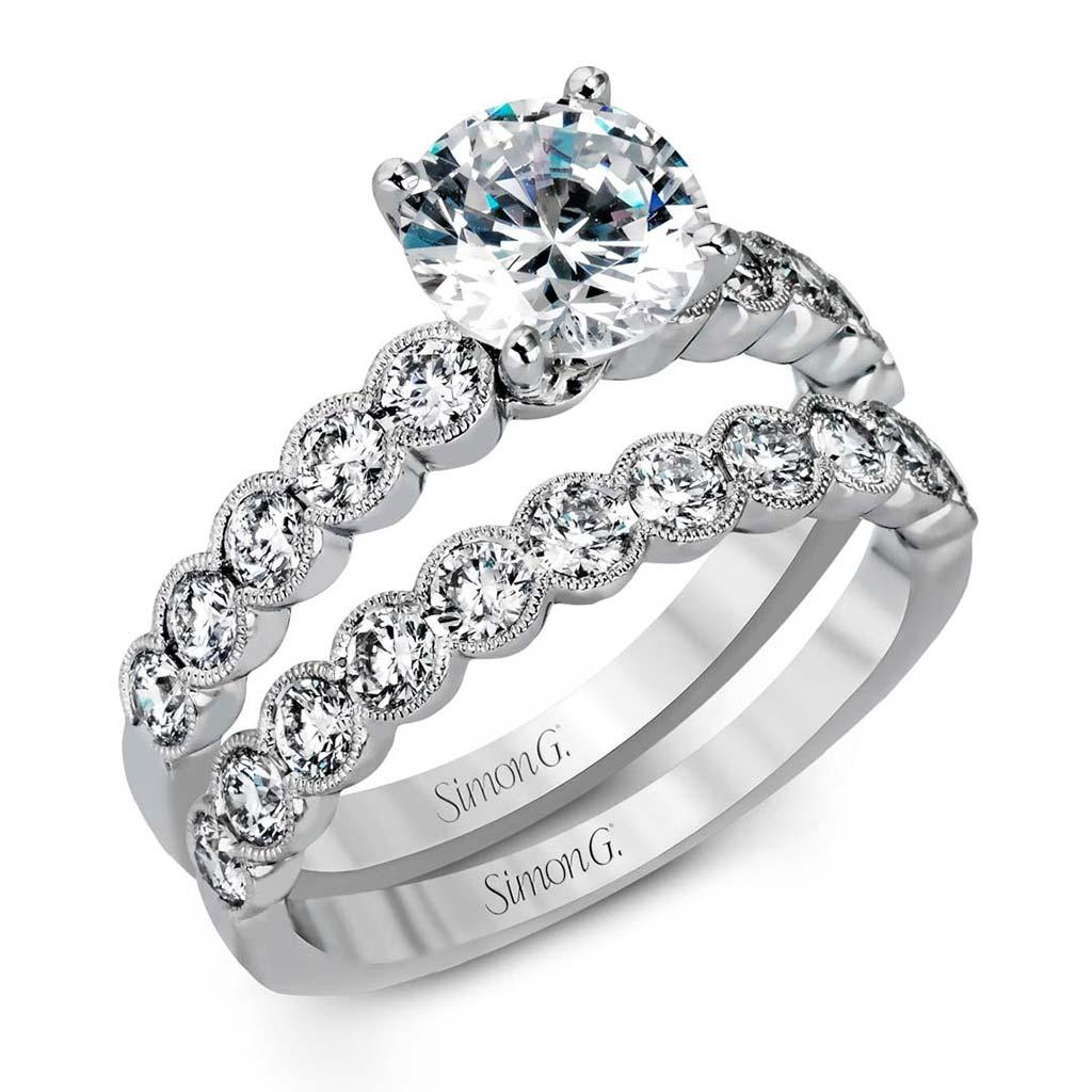 modern enchantment mr2566 diamond solitaire wedding set