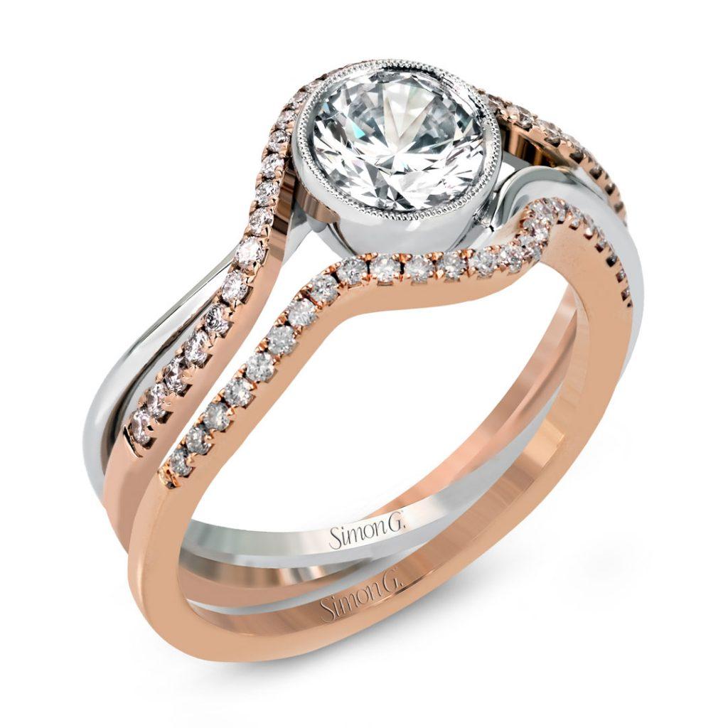 Classic Romance MR2569 Diamond Solitaire Wedding Set MR2569