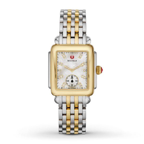Deco Mid Two-Tone With Diamond Dial On Two-Tone Bracelet Watch MWW06V000042