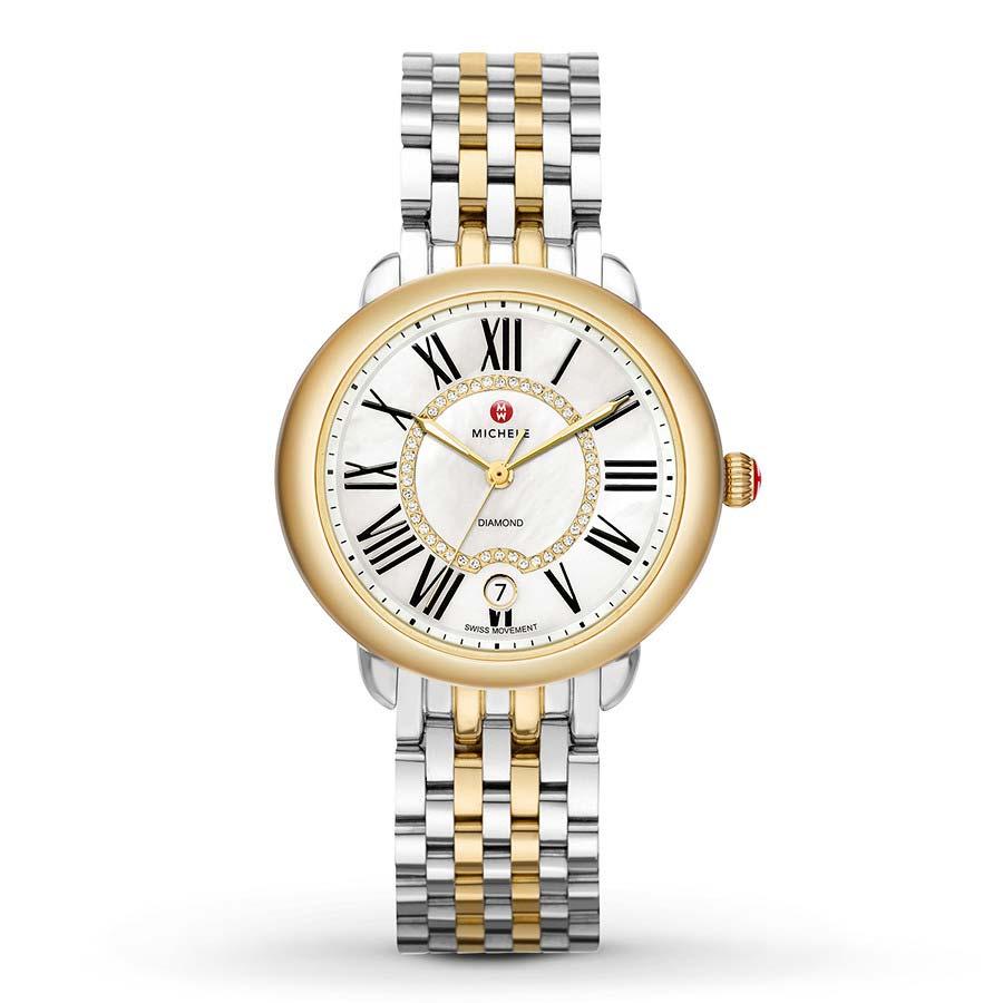 Serein Mid Two-Tone With Diamond Dial Watch MWW21B000015