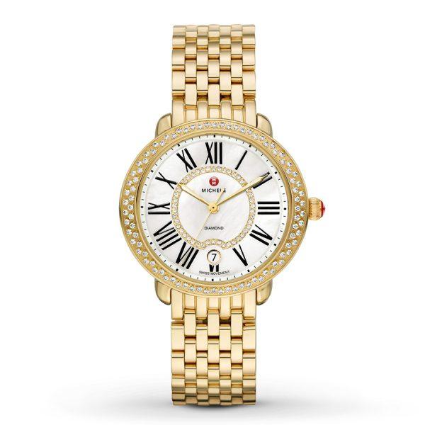 Serein Mid Gold Diamond With Diamond Dial Watch MWW21B000031