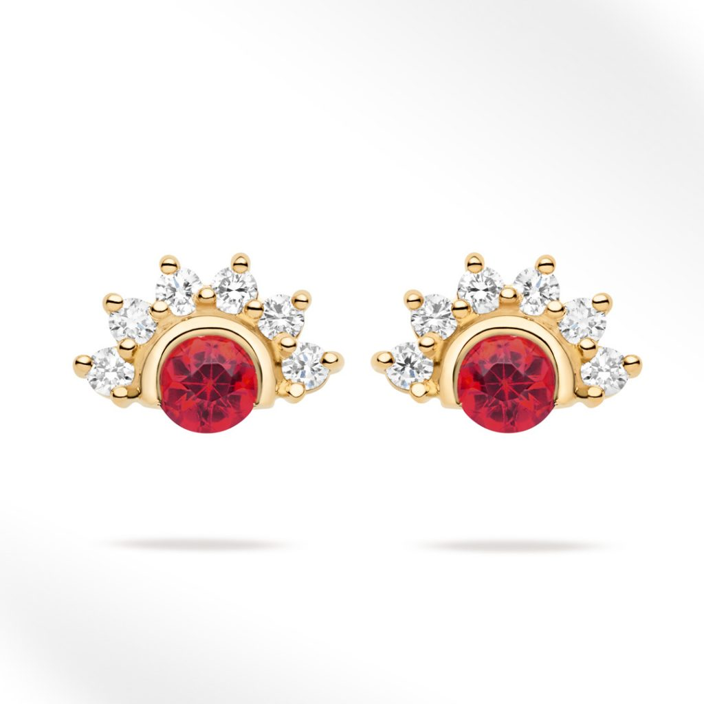 Red Spinel Studs (Pair) Earrings