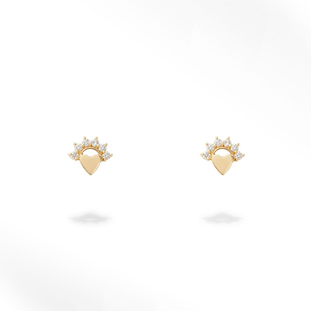 Love Studs Small Size (Pair) Earrings