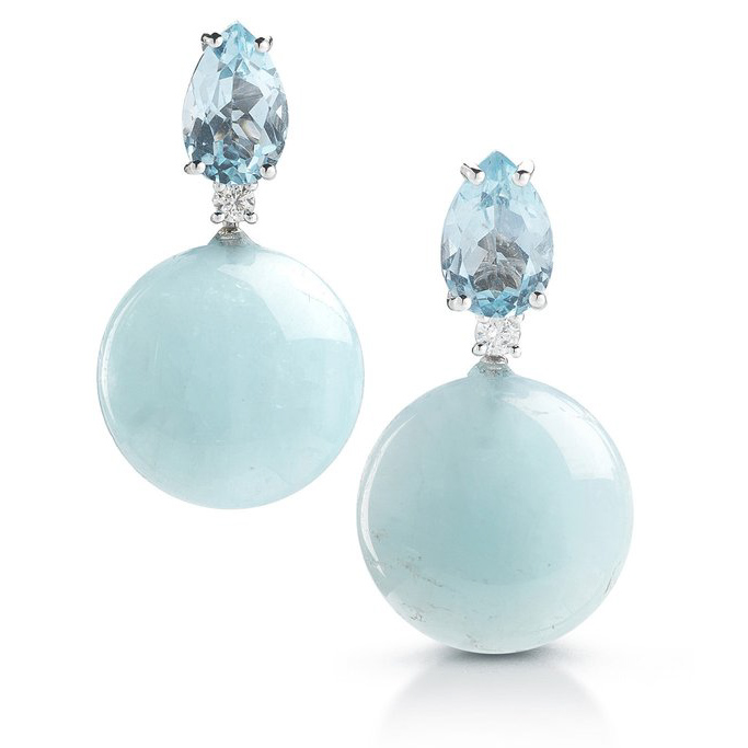 Bonbon Drop Earrings with Blue Topaz O1200BUH