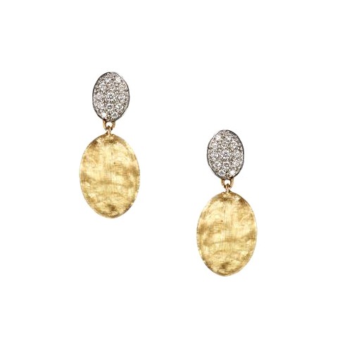 Diamond Pave Drop Earrings OB1289-B-YW