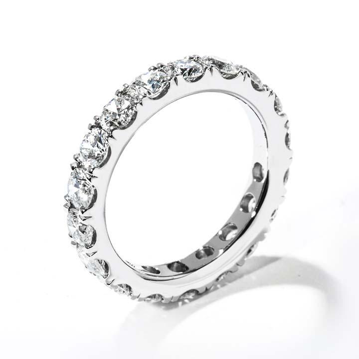 Split Shared G Diamond Wedding Band R563 Pl B 300