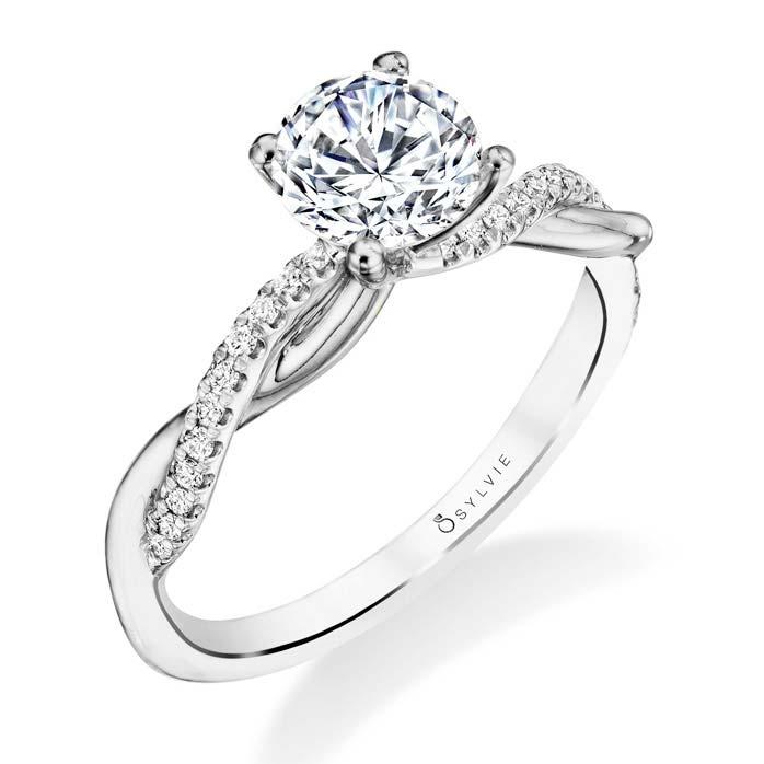 Sylvie S1524 Spiral Engagement Ring Zadok