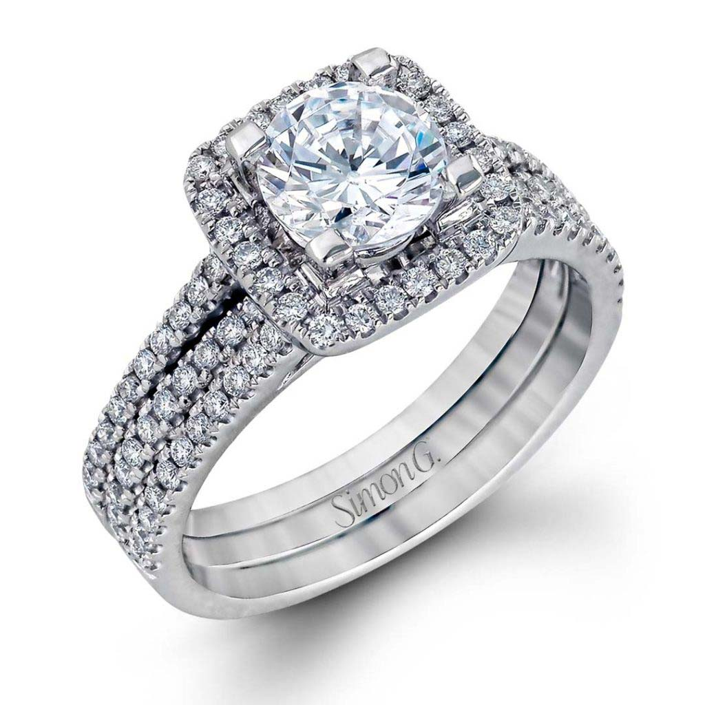 Classic Romance TR128 Diamond Solitaire Wedding Set TR128