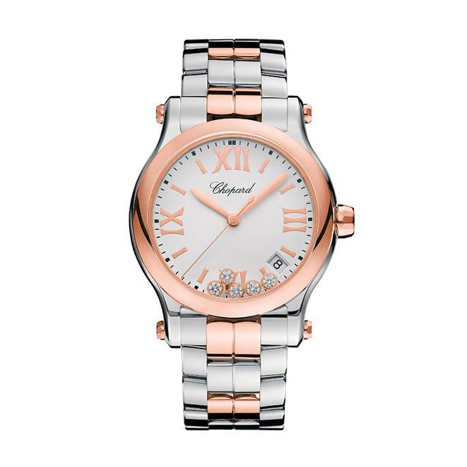 Chopard Stainless Steel Diamond Watch 278582-6002