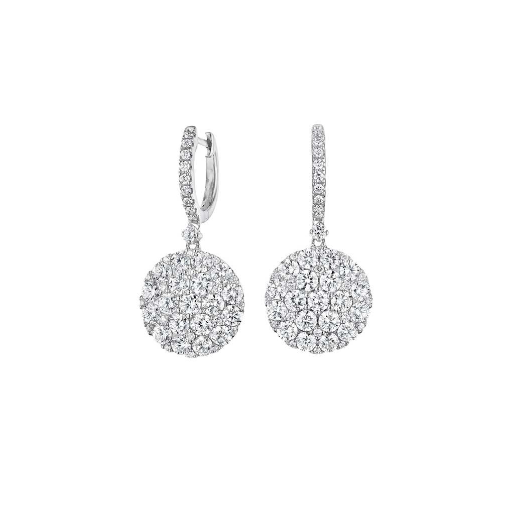 Zadok Collection 18k White Gold Diamond Earrings DEXX05744