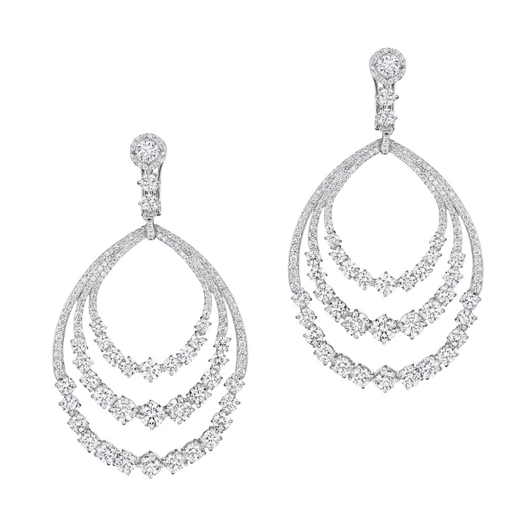 Zadok Collection 18k White Gold Diamond Earrings DEXX06564