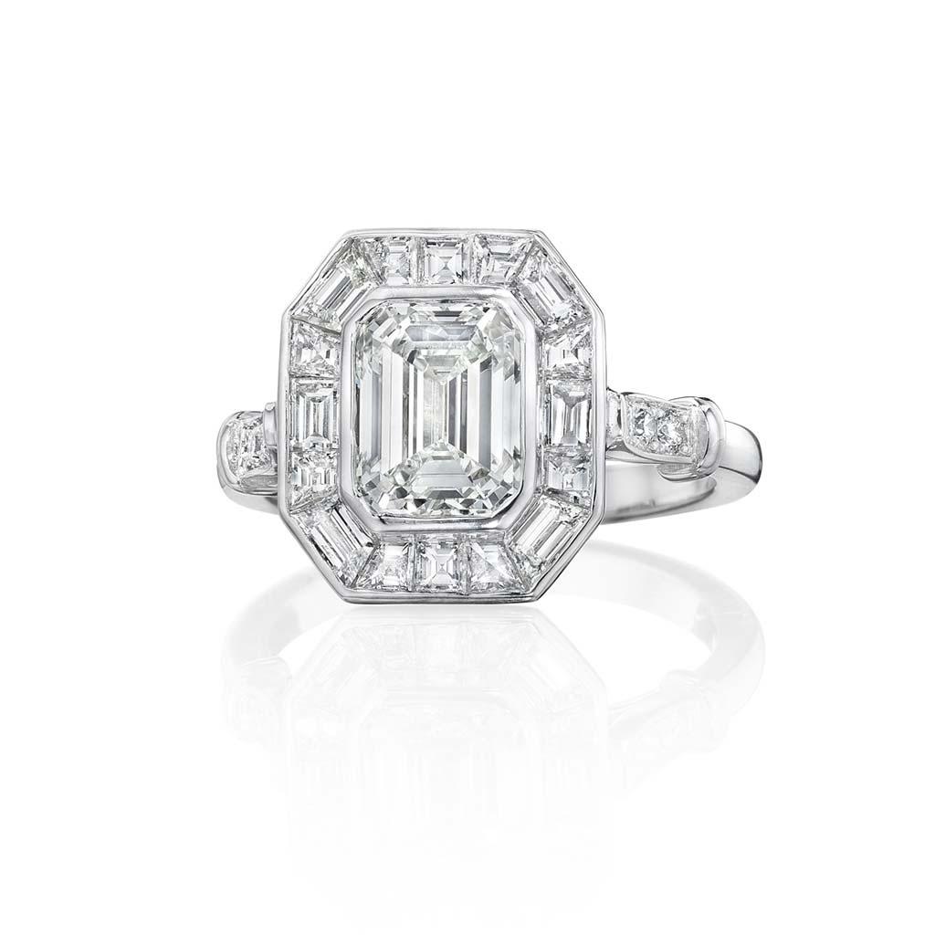 Zadok Collection Platinum Diamond Engagement Ring DLCTE00219
