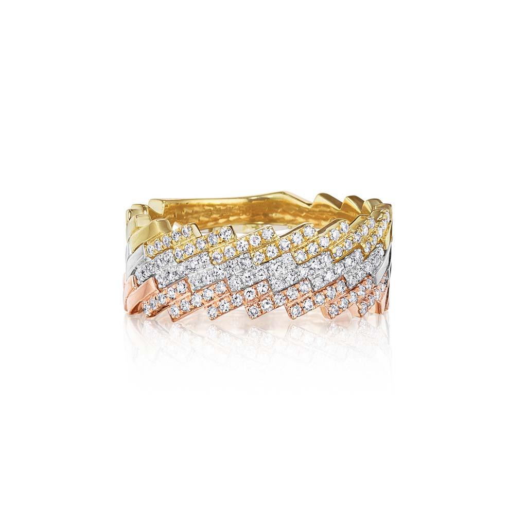 Zadok Collection 14k White Gold Diamond Fashion Ring DPB5000559-DPB5000560-DPB5000562