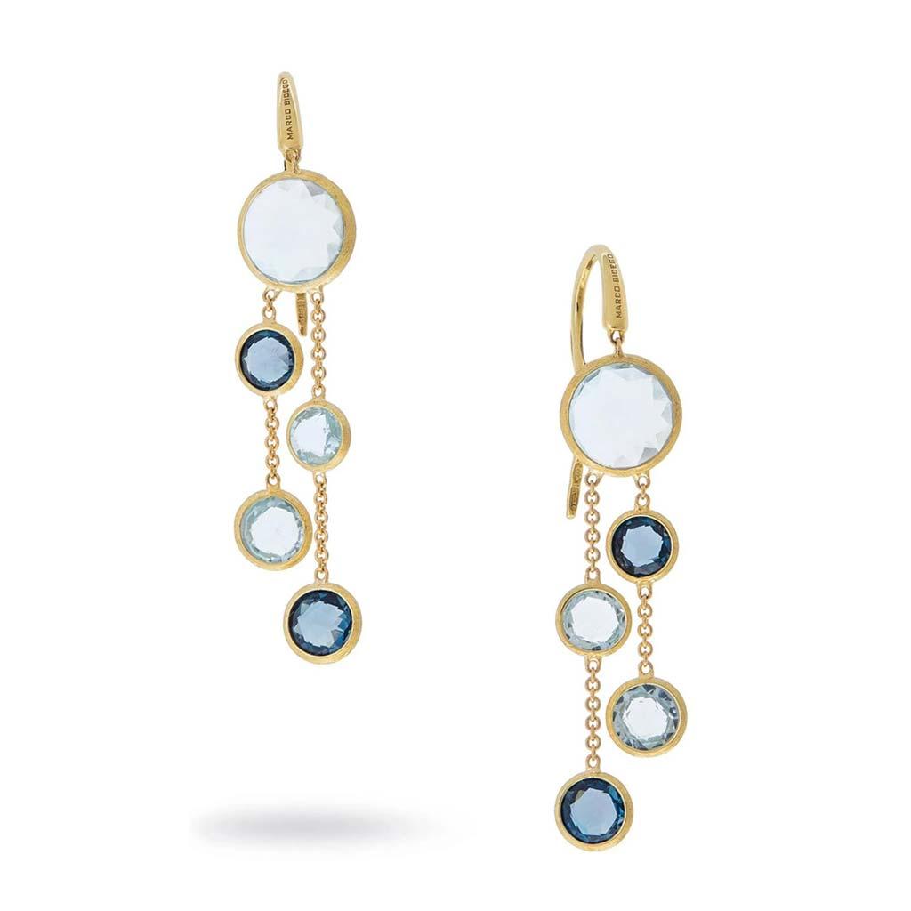 Marco Bicego 18k Yellow Gold London Blue Topaz Earrings OB1290 MIX725 Y 02