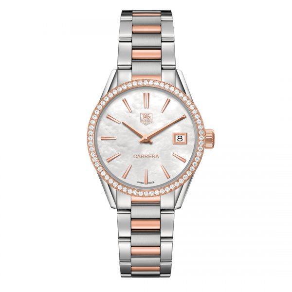 Tag Heuer Stainless Steel Diamond Watch WAR1353.BD0779