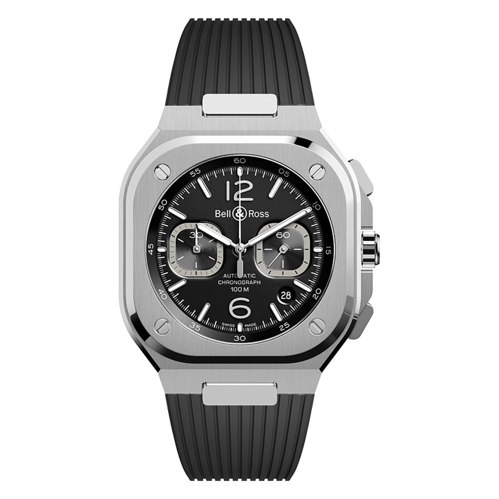 Br 05 Chrono Black Steel Watch
