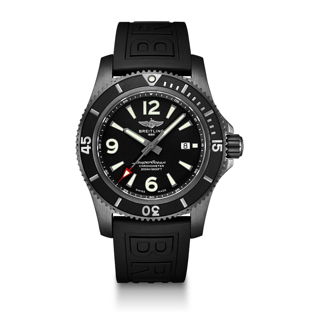 Superocean Automatic 46 Black Steel Watch