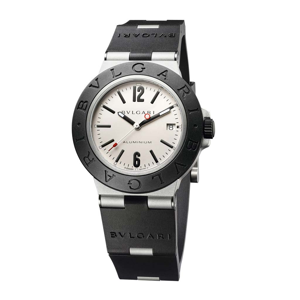 Bvlgari Aluminum White Dial Watch