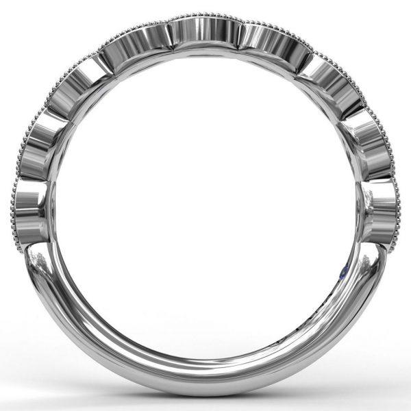 Matching Band to Scallop Diamond Engagement Ring