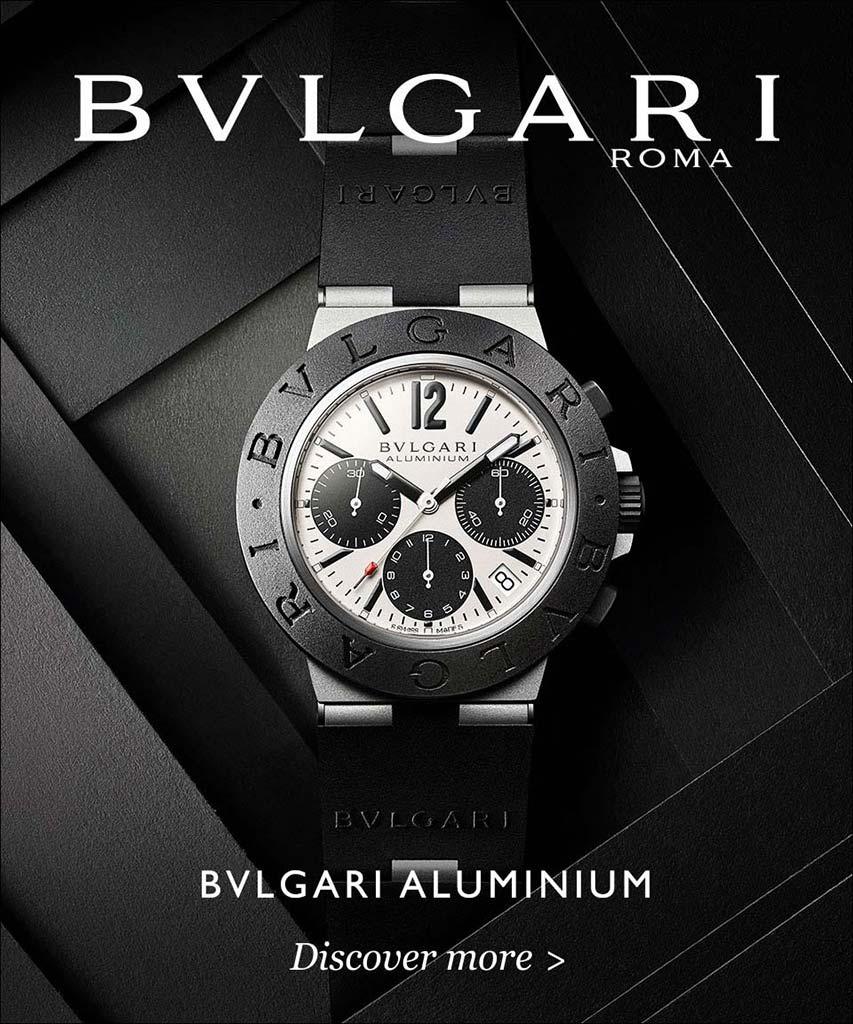 bulgari aluminum collection chronograph watch banner