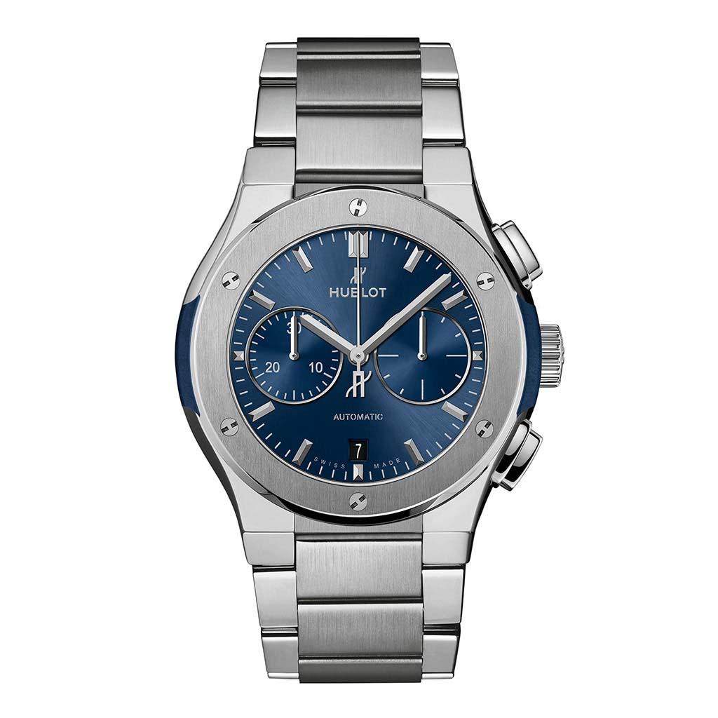 Classic Fusion Chronograph Titanium Blue Bracelet