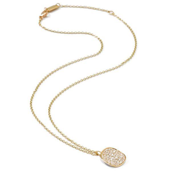STARDUST Medium Flower Pendant Necklace in 18K Gold with Diamonds