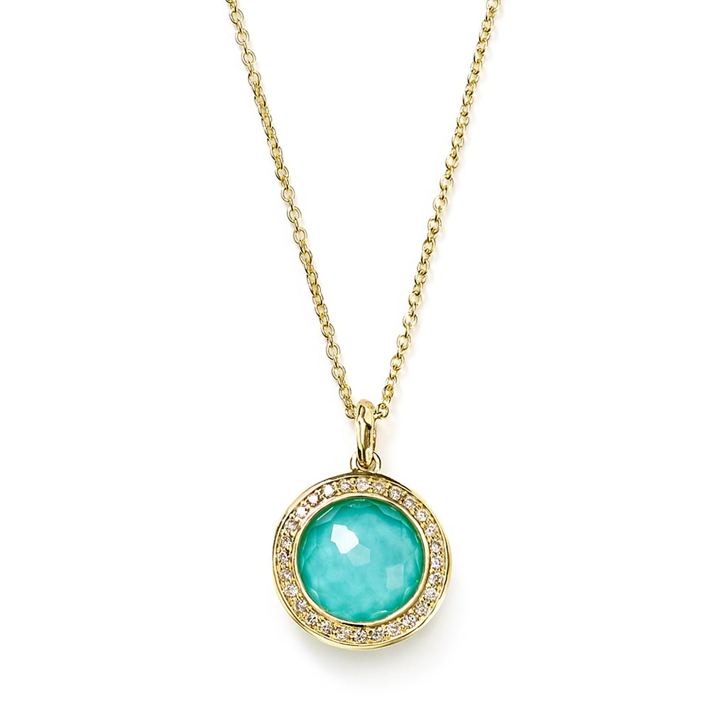 LOLLIPOP Small Pendant Necklace in 18K Gold with Diamonds