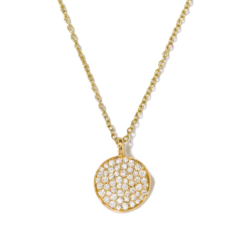 STARDUST Small Flower Pendant Necklace in 18K Gold with Diamonds