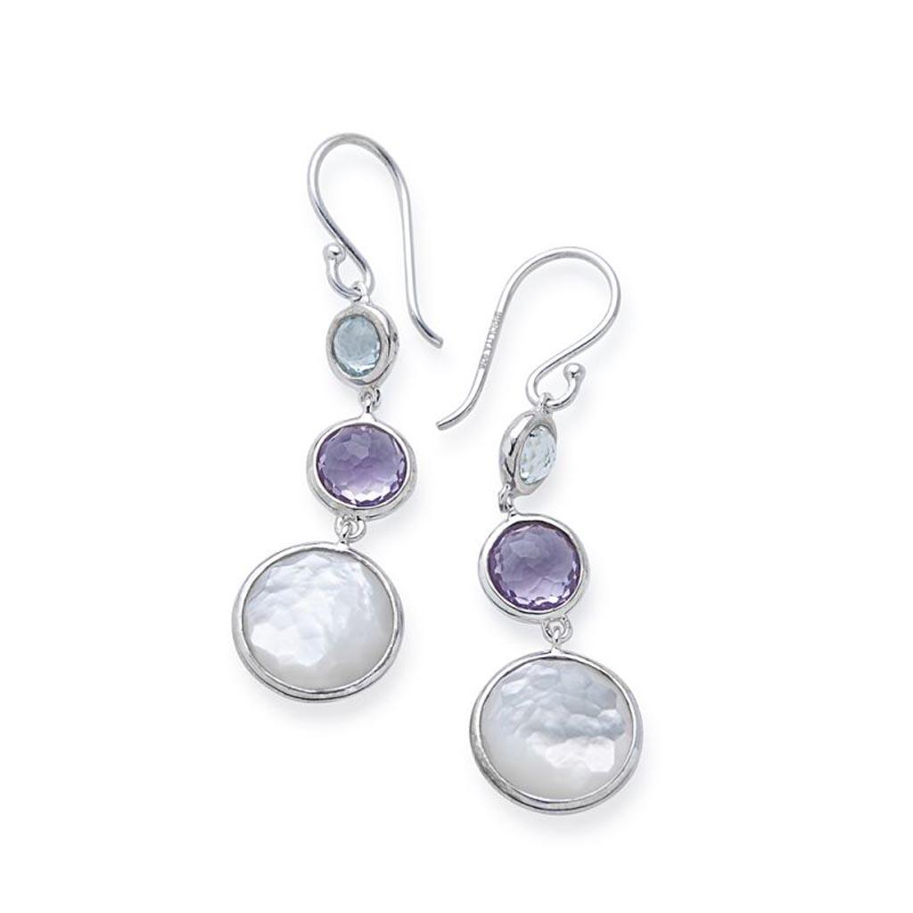 LOLLIPOP Lollitini 3-Stone Drop Earrings in Sterling Silver