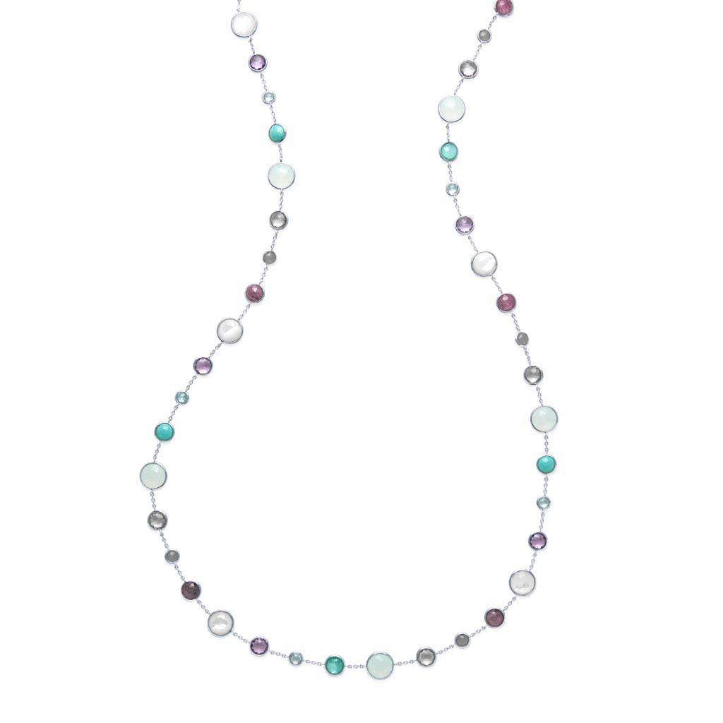 LOLLIPOP Lollitini Long Necklace in Sterling Silver