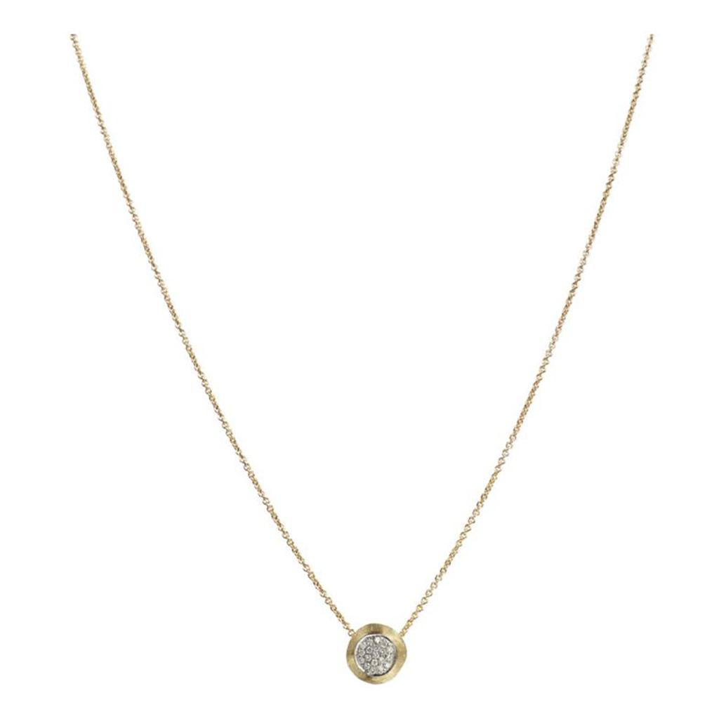 Delicati Gold and Diamond Pave Bead Pendant
