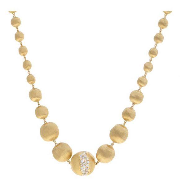 Africa Constellation Graduated Diamond Collar