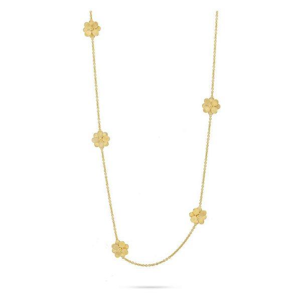Petali Long Flower Station Necklace