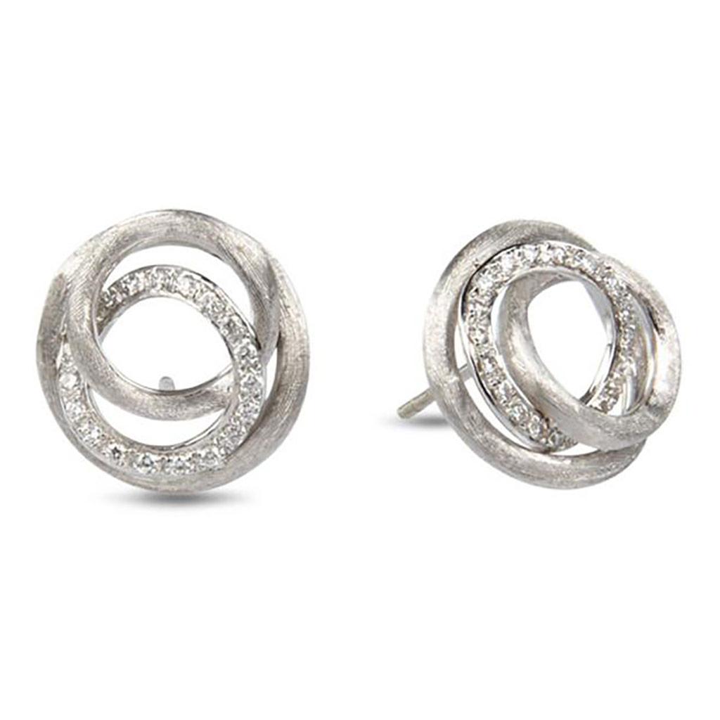 Jaipur Diamond Link Stud Earrings