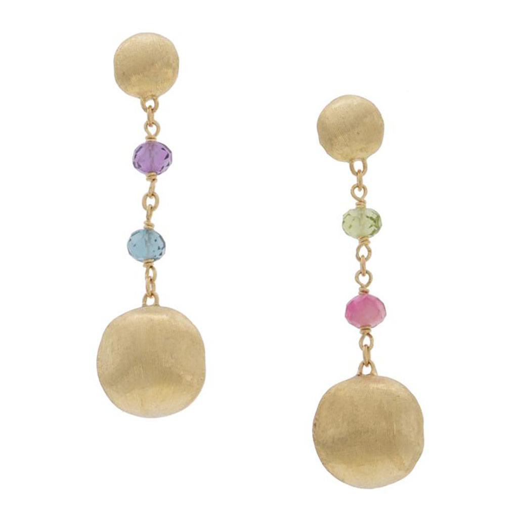 Africa Gemstone Drop Earrings