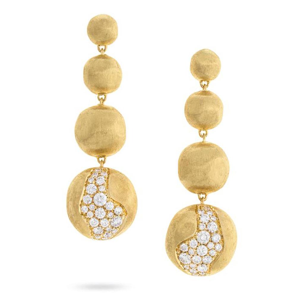 Africa Constellation Long Graduated Diamond Drop Earrings
