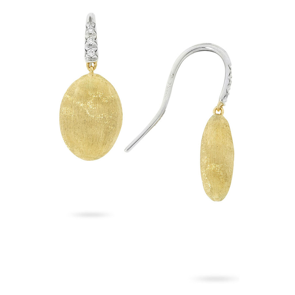 Siviglia Gold and Diamond Drop Earrings