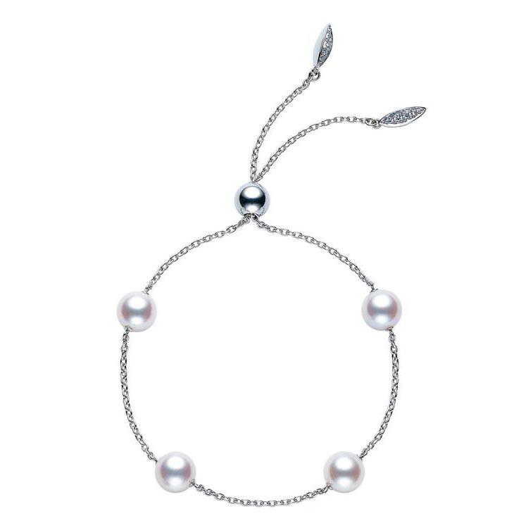 Pearls In Motion Diamond and Akoya Pearl Bracelet