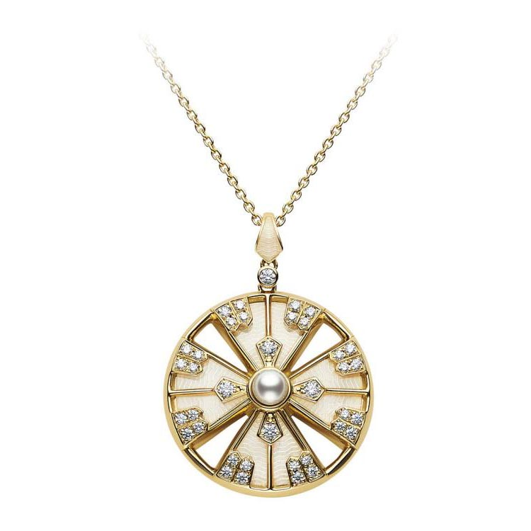 Japan Collections Diamond and Akoya Pearl Pendant